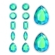 Set of Five Forms of Aquamarine - GraphicRiver Item for Sale