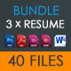 Resume Bundle vol.01 - GraphicRiver Item for Sale