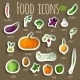 Vegetable Stickers Set - GraphicRiver Item for Sale
