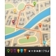 City Map with Navigation Icons - GraphicRiver Item for Sale