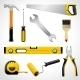 Realistic Carpenter Tools Icons Collection - GraphicRiver Item for Sale