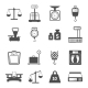 Scales Weight Icons Set - GraphicRiver Item for Sale