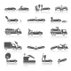 Black and White Car Crash Icons - GraphicRiver Item for Sale