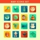 Baby Child Icons Set - GraphicRiver Item for Sale