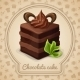 Chocolate Cake Poster - GraphicRiver Item for Sale