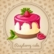 Raspberry Cake Emblem - GraphicRiver Item for Sale