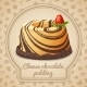 Chocolate Cheese Pudding Emblem - GraphicRiver Item for Sale