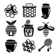 Honey Icons Set - GraphicRiver Item for Sale