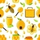 Honey Seamless Pattern - GraphicRiver Item for Sale