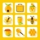 Honey Flat Icons Set - GraphicRiver Item for Sale