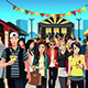 People in Street Food Festival - GraphicRiver Item for Sale