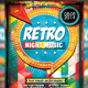 Retro Night Music Flyer - GraphicRiver Item for Sale