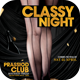 Classy Night Flyer Template - GraphicRiver Item for Sale