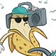 Crazy Banana with Boom Box - GraphicRiver Item for Sale