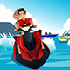 People Riding Jet Ski - GraphicRiver Item for Sale
