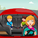 Mother Driving with her Children - GraphicRiver Item for Sale