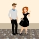 Man and Woman in the Street - GraphicRiver Item for Sale