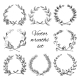 Hand Drawn Wreaths Set - GraphicRiver Item for Sale