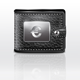 Leather Wallet with Euro Sign - GraphicRiver Item for Sale