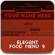 Elegant Food Menu 9 - GraphicRiver Item for Sale