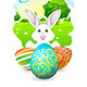 Easter Card with Landscape and Decorated Egg - GraphicRiver Item for Sale