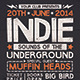 Indie Party Poster - GraphicRiver Item for Sale