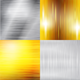 Set of Metal Silver and Gold Backgrounds - GraphicRiver Item for Sale