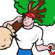 Gardener Arborist Carrying Tree Cartoon - GraphicRiver Item for Sale