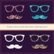 Hipster Icons with Geometric Grunge Background - GraphicRiver Item for Sale
