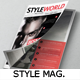 Clothing/Fashion Style Magazine Template - GraphicRiver Item for Sale