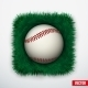 Baseball in Grass - GraphicRiver Item for Sale