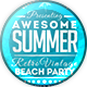 Vintage Summer Beach Party Flyer Vol.2 - GraphicRiver Item for Sale