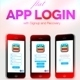Flat App Login/Signup/Recovery UI - GraphicRiver Item for Sale