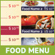 Table Tent Menu Design | 1 - GraphicRiver Item for Sale