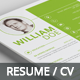 Simple and Clean Resume - GraphicRiver Item for Sale