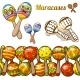 Set of Colorful Maracases - GraphicRiver Item for Sale