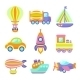 Transport Toys Icons Set - GraphicRiver Item for Sale