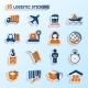 Logistic Stickers Set - GraphicRiver Item for Sale
