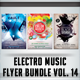 Electro Music Flyer Bundle Vol.14  - GraphicRiver Item for Sale