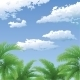 Palm Trees and Sky with Clouds - GraphicRiver Item for Sale