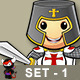 St George Knight Character - Set 1 - GraphicRiver Item for Sale