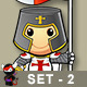 St George Knight Character - Set 2 - GraphicRiver Item for Sale