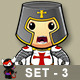 St George Knight Character - Set 3 - GraphicRiver Item for Sale