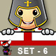 St George Knight Character - Set 6 - GraphicRiver Item for Sale