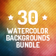 30 Watercolor Backgrounds Bundle - GraphicRiver Item for Sale