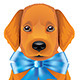 Red Puppy with Blue Bow - GraphicRiver Item for Sale
