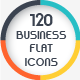 120 Business Flat Icons  - GraphicRiver Item for Sale