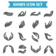 Hand Hold Protect Icons - GraphicRiver Item for Sale