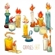 Candle Set Icons - GraphicRiver Item for Sale