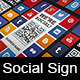 Social Media QR Code Poster Sign - CodeCanyon Item for Sale